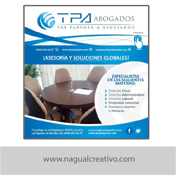 TPA ABOGADOS - Diseño para marketing digital - Nagual Creativo