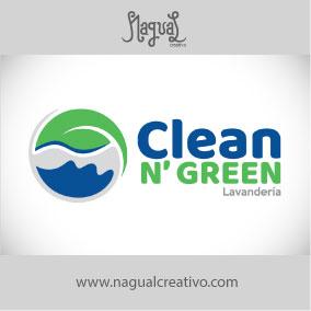 CLEAN N GREEN - Diseño de marca - Nagual Creativo