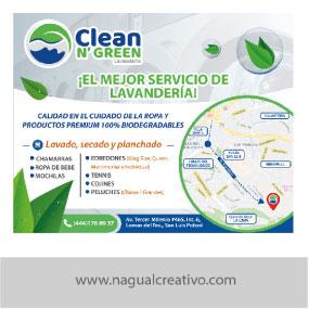 CLEAN N GREEN-Diseño de publicidad-Nagual Creativo