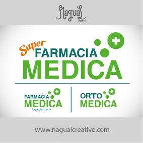 FARMACIAS MEDICAS - Diseño de marca - Nagual Creativo