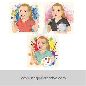 GILDA-Ilustración y diseño de personajes-Nagual Creativo