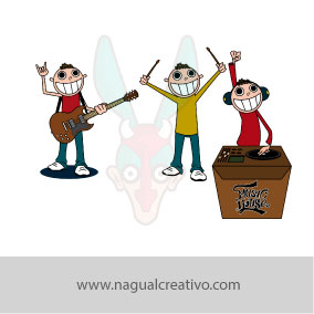 MUSIC HOUSE-Ilustración y diseño de personajes-Nagual Creativo