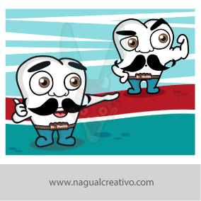 ORTODENTAL-Ilustración y diseño de personajes-Nagual Creativo