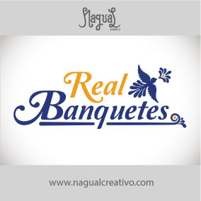 REAL BANQUETES - Diseño de marca - Nagual Creativo