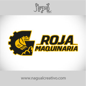 ROJA MAQUINARIA - Diseño de marca - Nagual Creativo