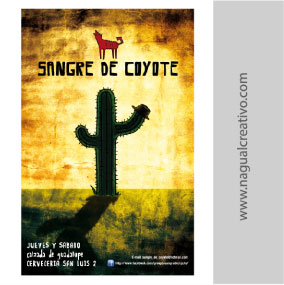 SANGRE DE COYOTE-Diseño de publicidad-Nagual Creativo